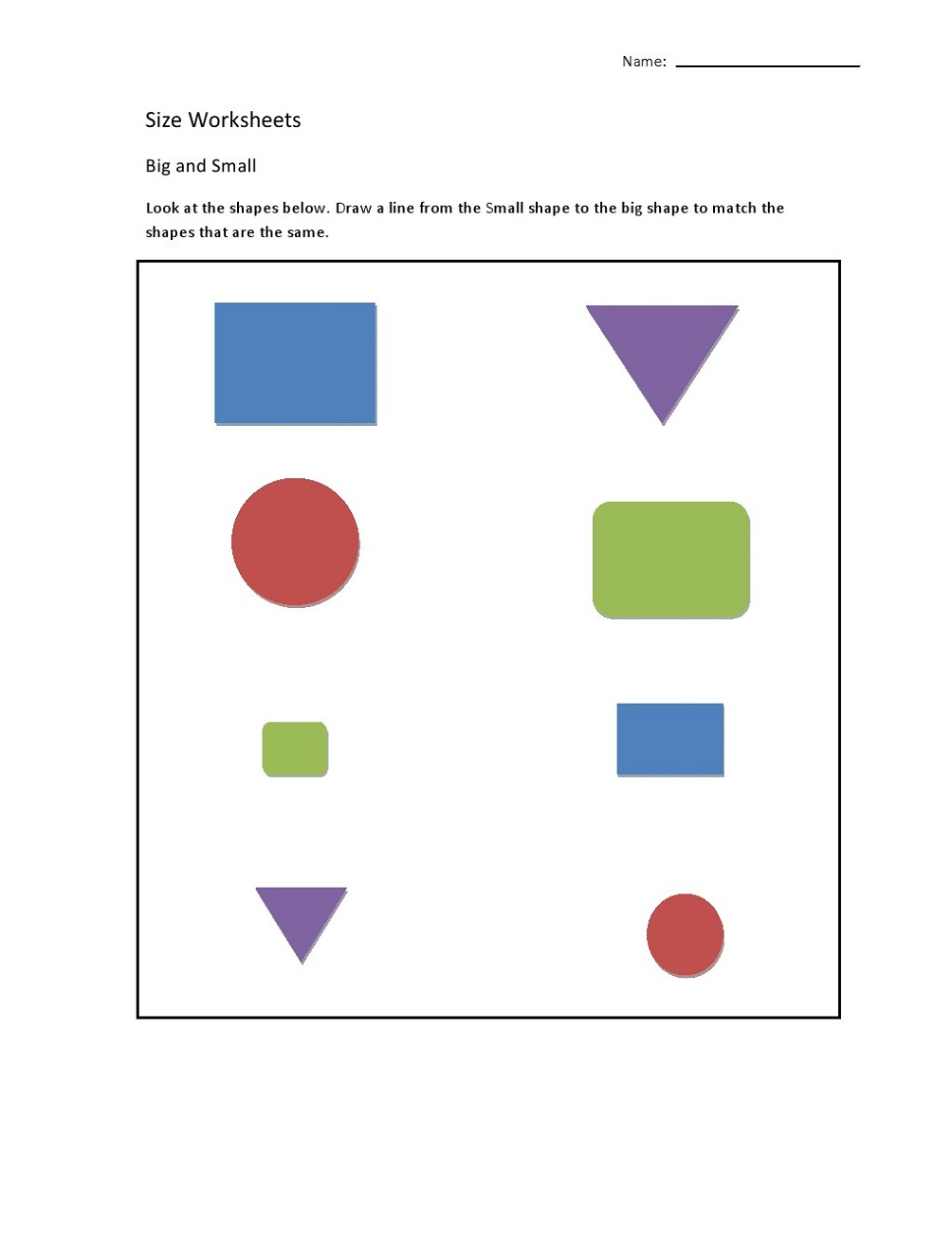 Free Printable Worksheets for Lkg Shape