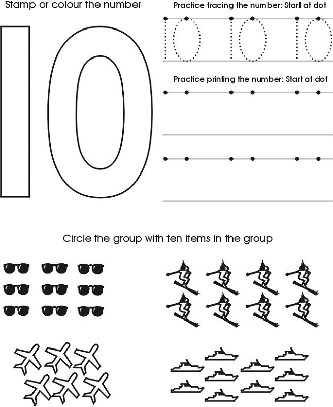 Fun Worksheets for Kids Number
