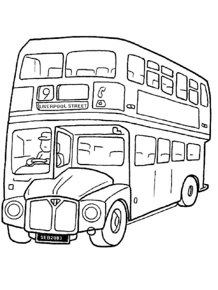 Hard Coloring Pages Bus