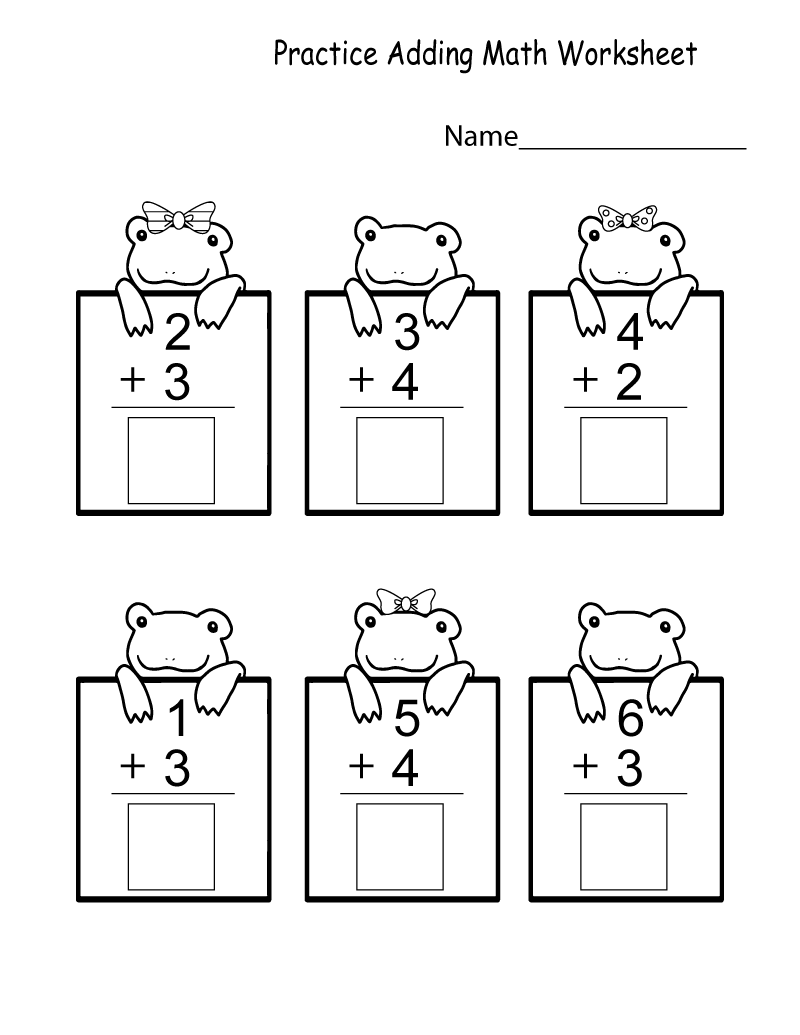 Kindergarten Printable Worksheets Math