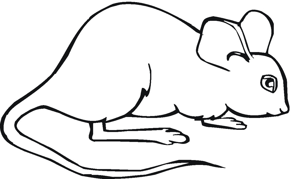 Childrens Printable Coloring Pages Mouse