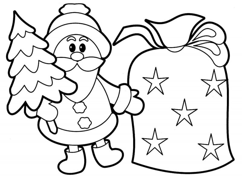 Colouring Sheets for Children Christmas