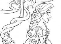 Colouring Sheets for Children Rapunzel