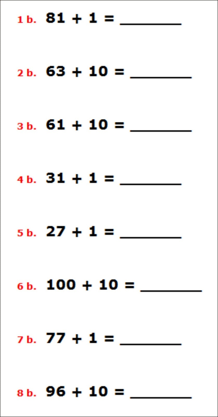 Create Your Own Math Worksheets Addition