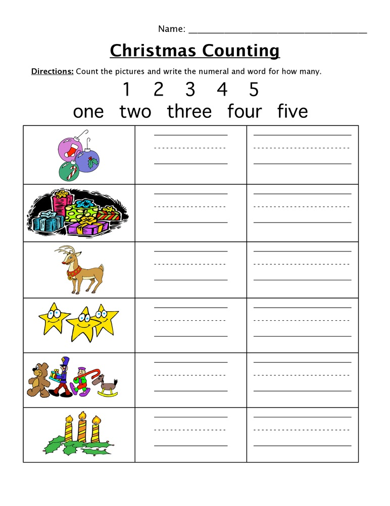 Create Your Own Math Worksheets Counting