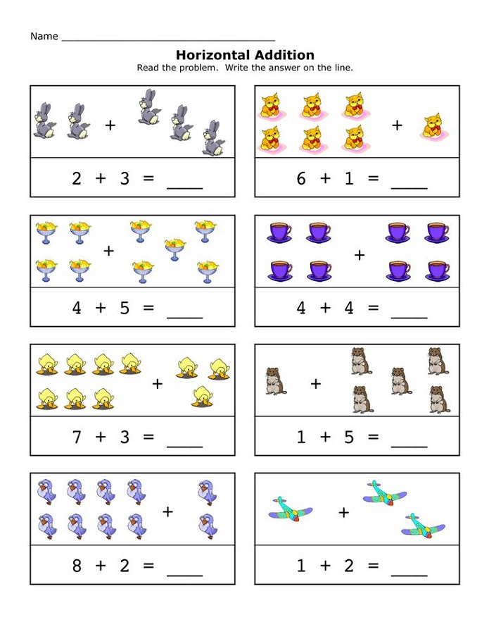 Create Your Own Math Worksheets Horizontal