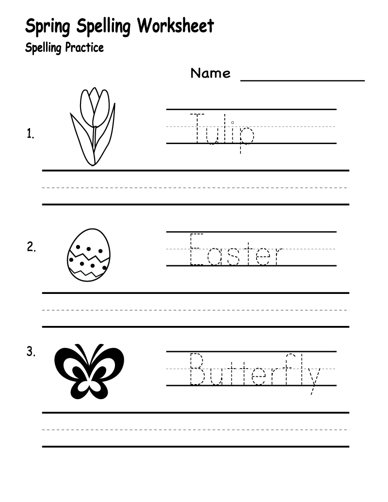 Create Your Own Math Worksheets Spelling