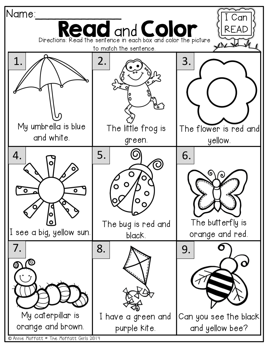 English Worksheet For Kids Learning Printable