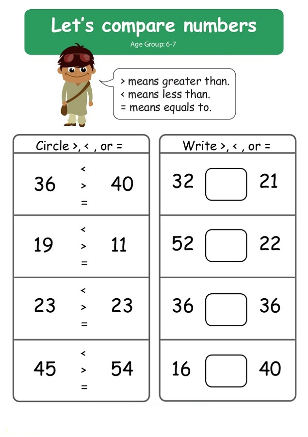 Ks1 Maths Worksheets Compare Learning Printable
