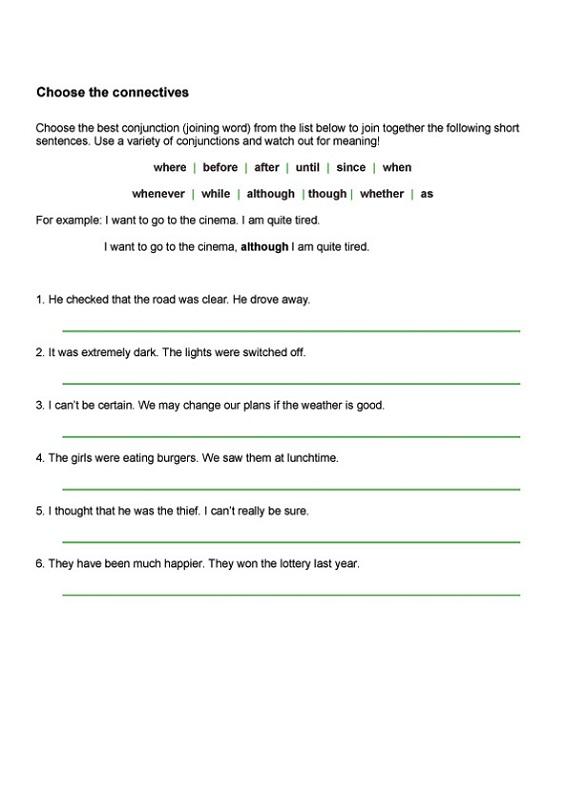 Ks2 English Worksheets Connectives