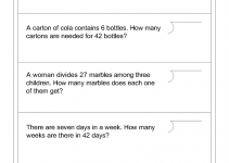 Math Word Problems Worksheets Division