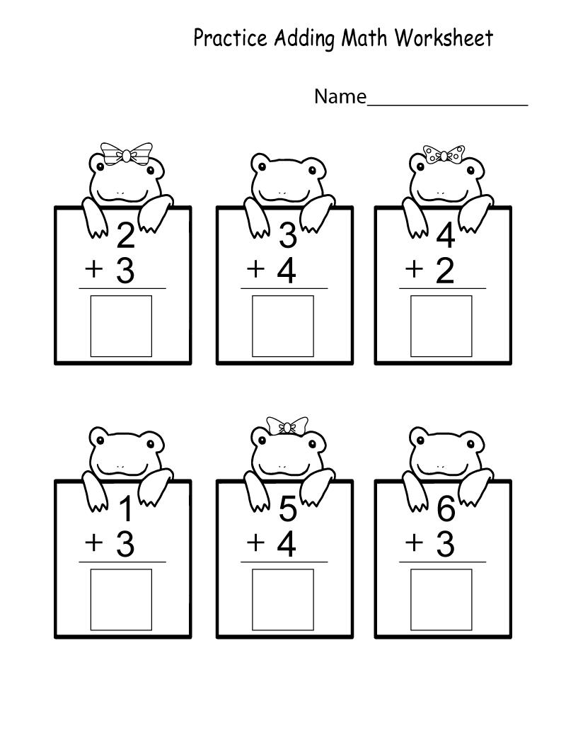 Prep Math Worksheets Addition