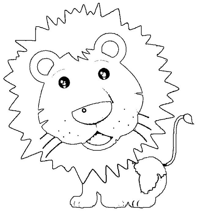 Preschool Activity Pages Lion