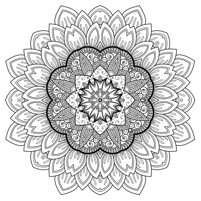 Stress Coloring Printable