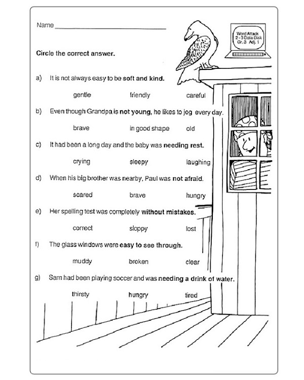 Year 4 English Worksheets Free Printable Test