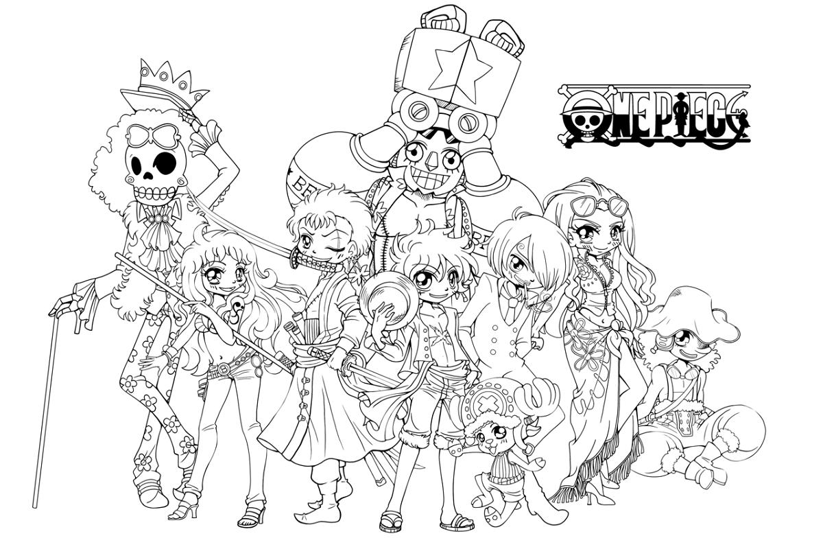 Colour Cartoon One Piece