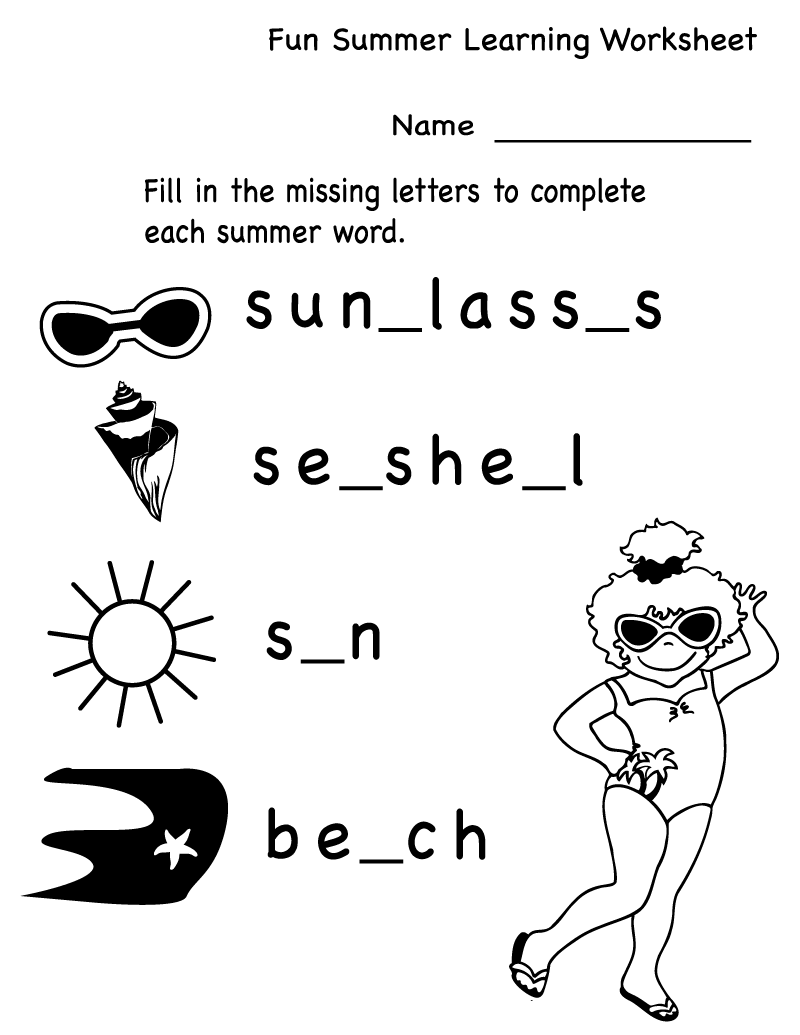 Fun Activity Worksheets Letter