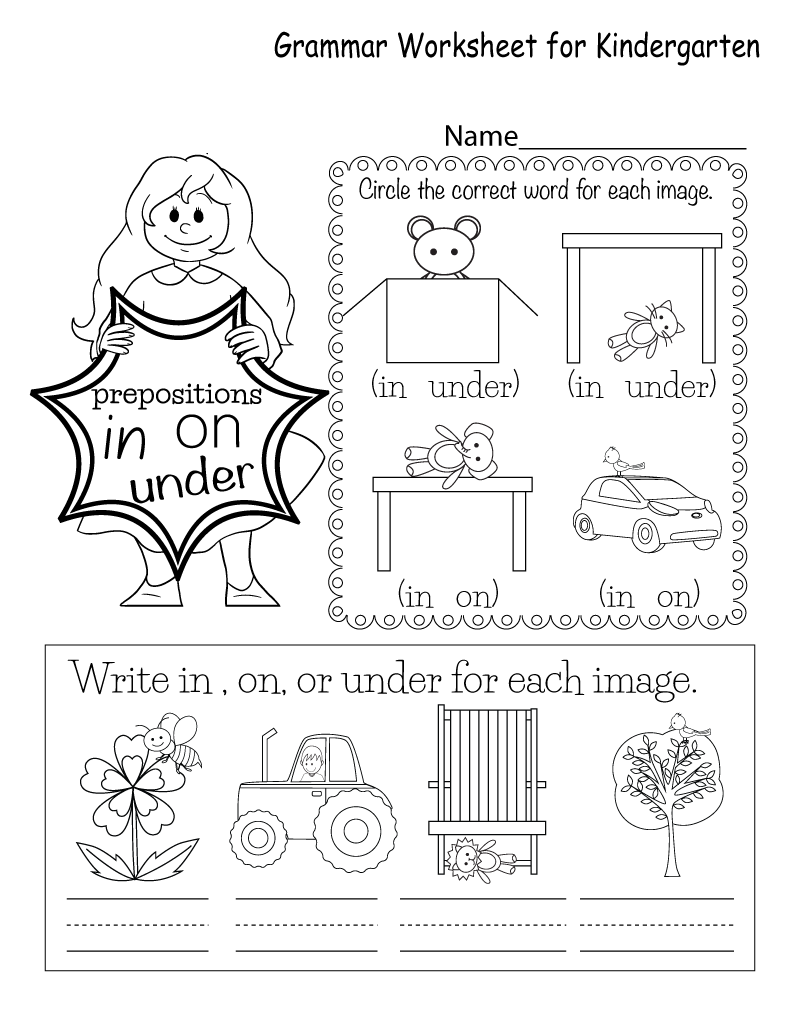 Kindergarten English Worksheets Free Printables Learning Printable
