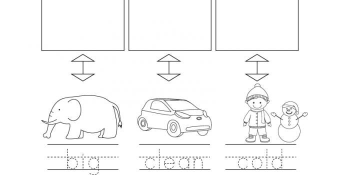 Kindergarten English Worksheets Free Printables Opposite