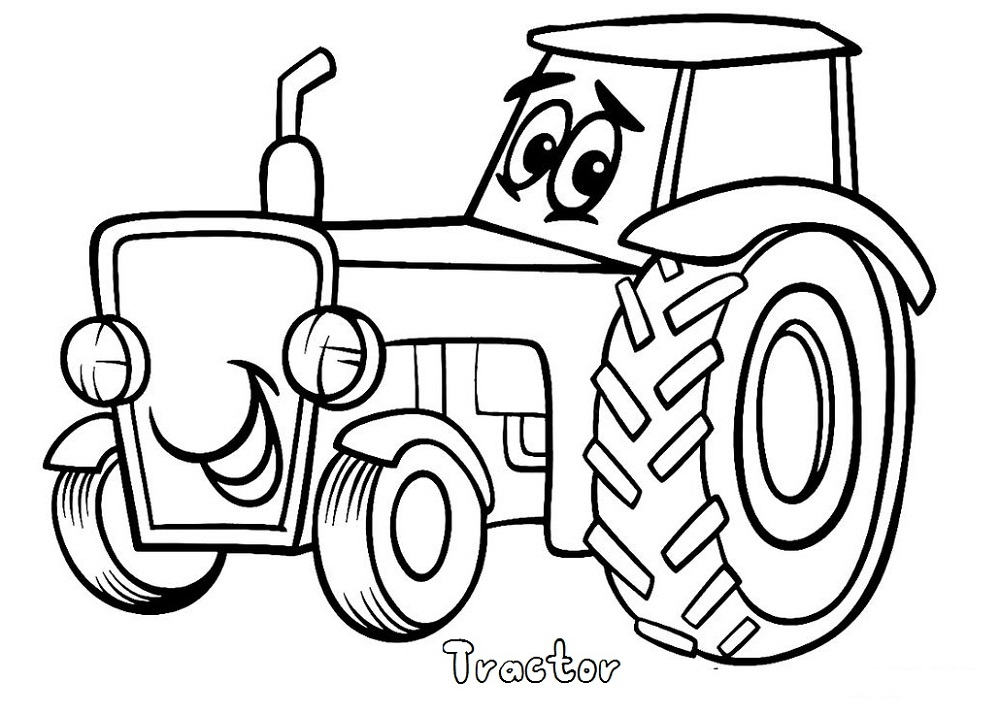 Pictures to Print Out and Color Tractor