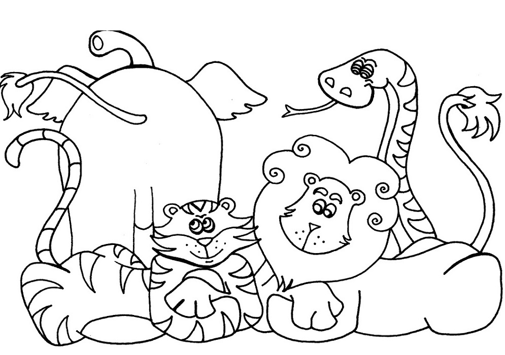 Preschool Coloring Pages Animal