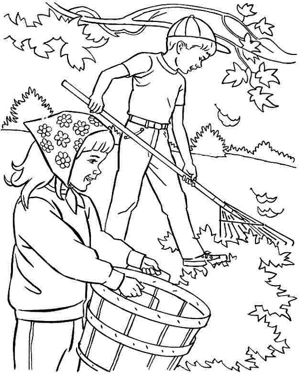 Preschool Coloring Pages Autumn