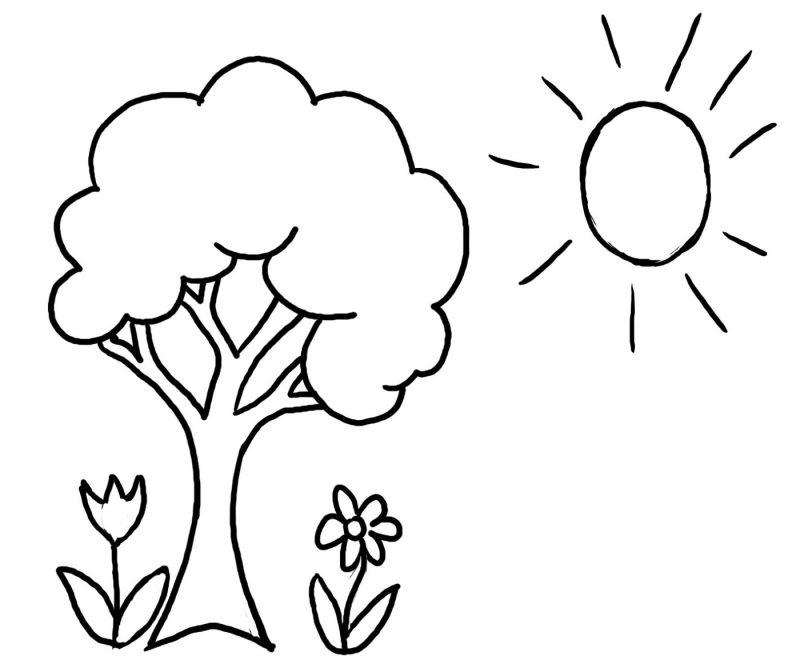 Preschool Coloring Pages Spring