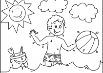 Preschool Coloring Pages Summer