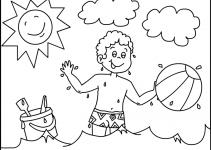 Preschool Coloring Pages Summer