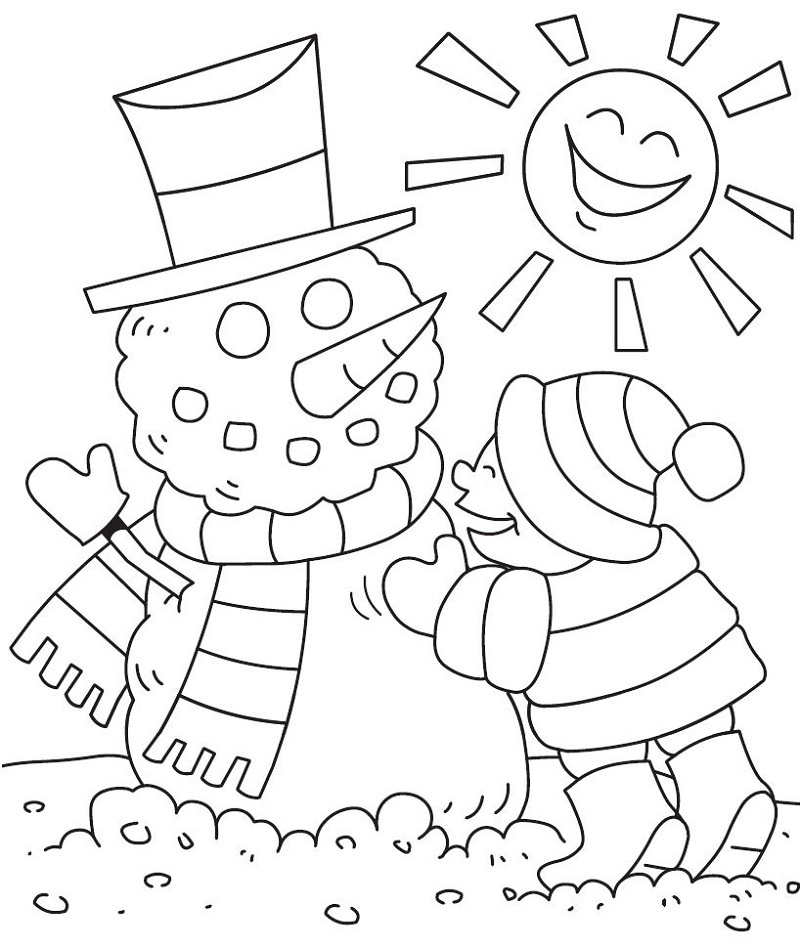 Preschool Coloring Pages Winter