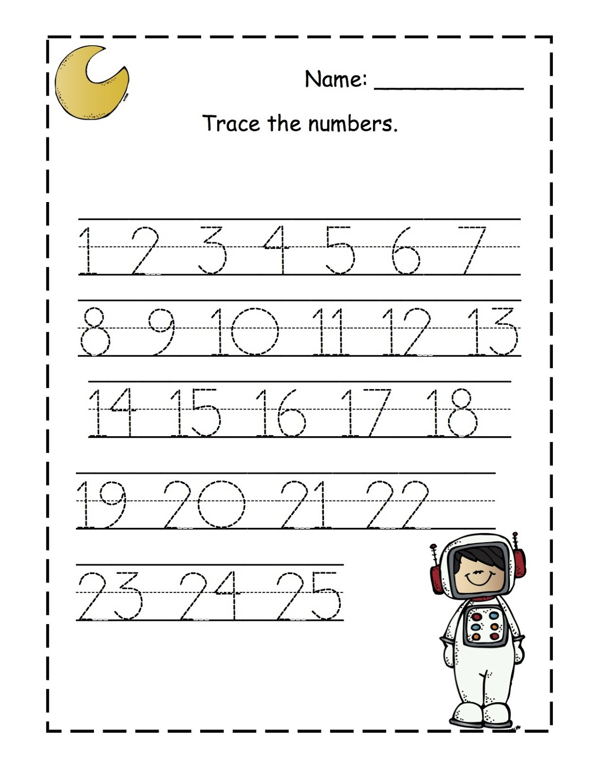 Preschool Printable Worksheets Numbers