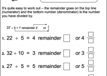 Worksheets for 4 Year Olds Fraction