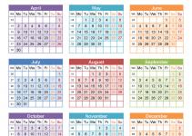free calendar 2018 color