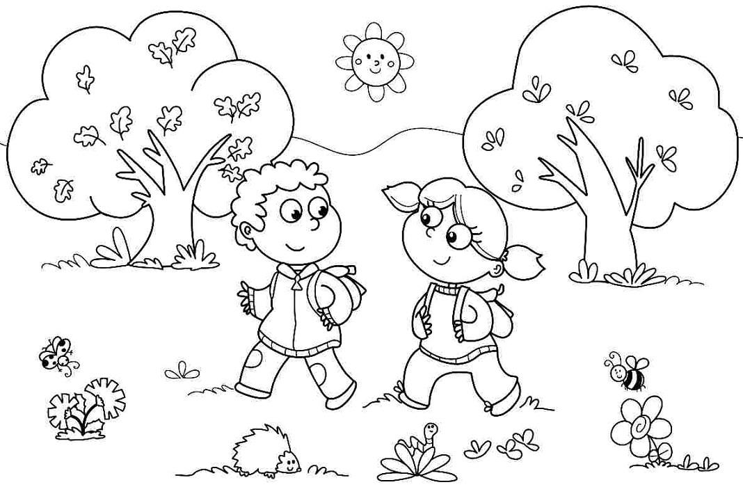 Coloring Worksheets for Kids School