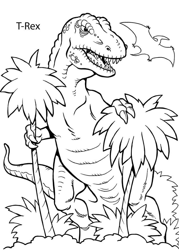Free Coloring Book Pages for Kids Dinosaur