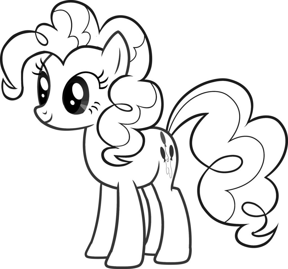 Free Colouring Sheets for Children Pony