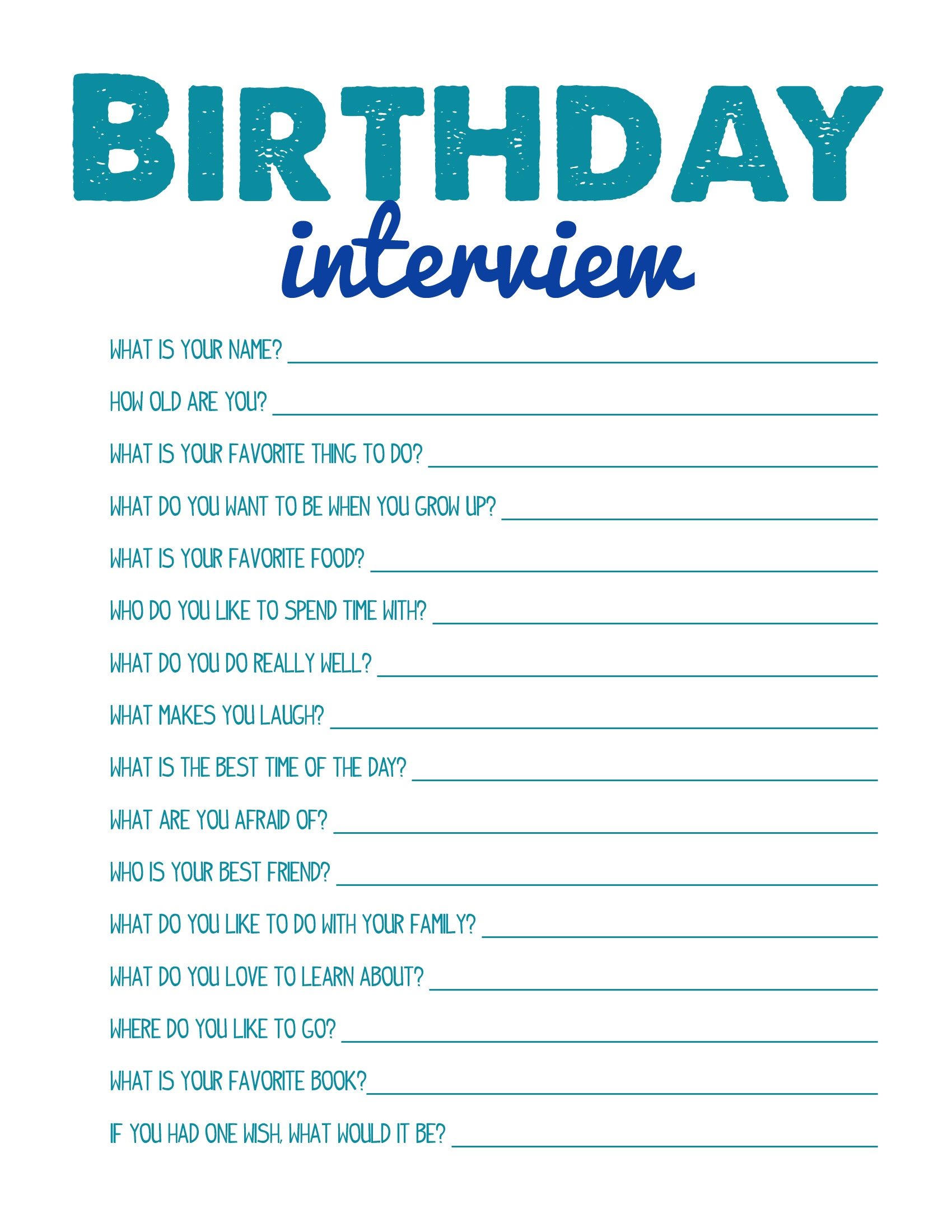 Fun Printable Games Birthday