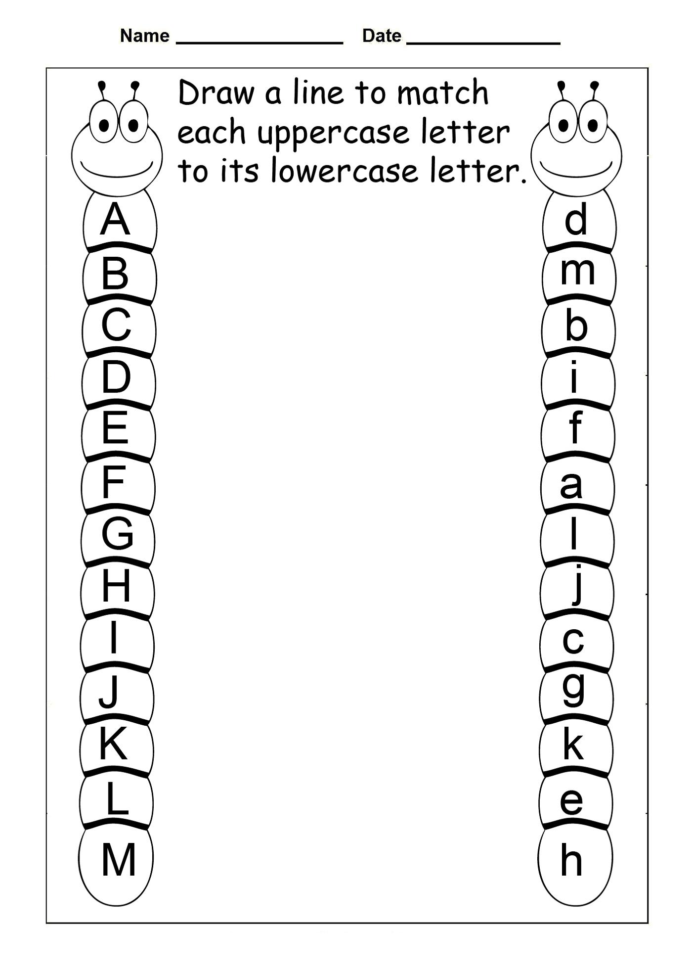 Preschool Worksheets Letters