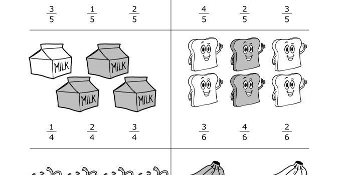 Second Grade Worksheets Fractions