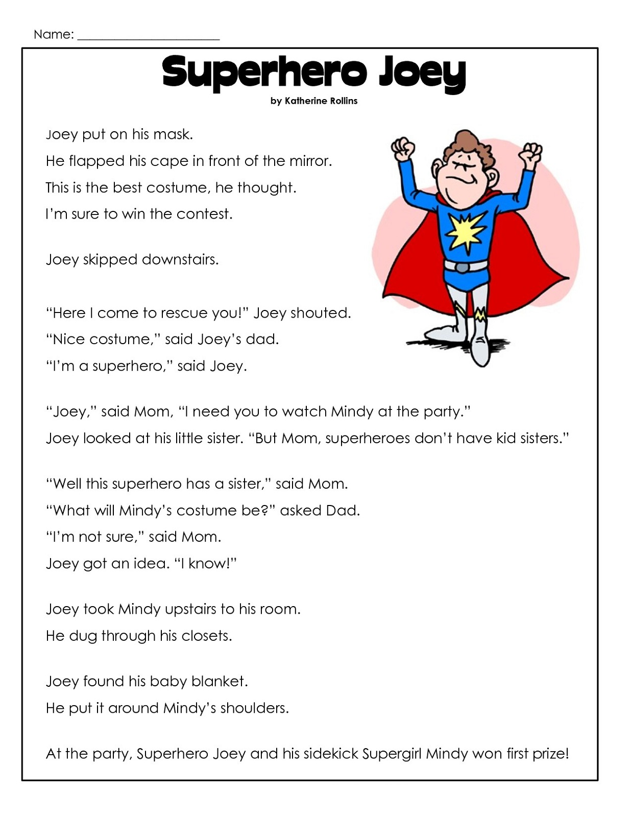 Second Grade Worksheets Reading
