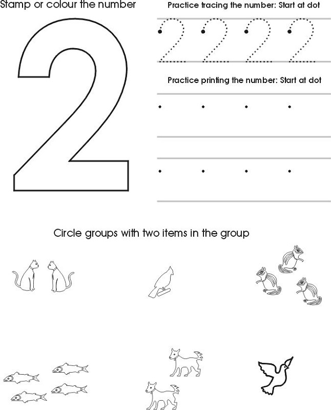 Free and Printable Toddler Worksheets | Learning Printable
