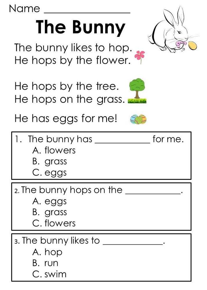 Toddler Worksheets Reading