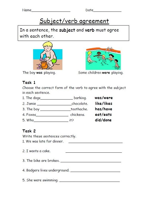 Year 4 Homework Sheets English
