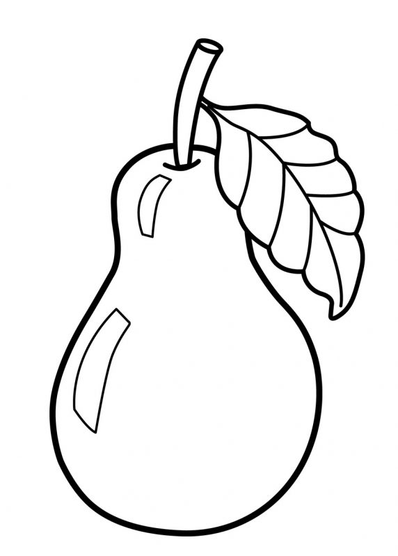Kindergarten Coloring Pages Free Fruit