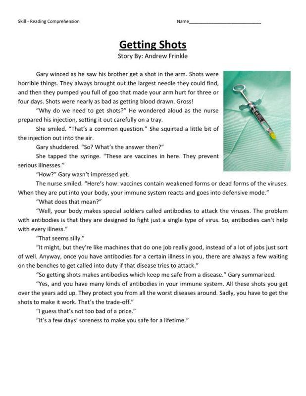 Worksheets for Grade 4 Reading