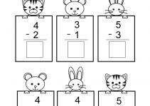 Free Math Sheets Kindergarten