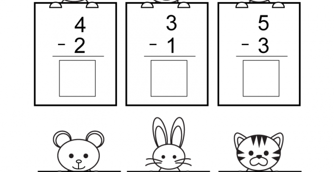 Free Math Sheets Kindergarten