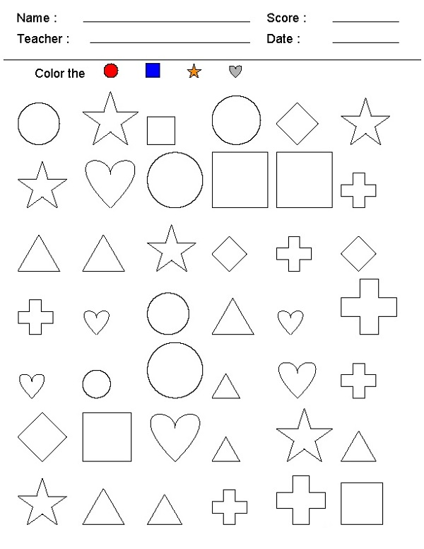 Make Your Own Math Worksheets Shape