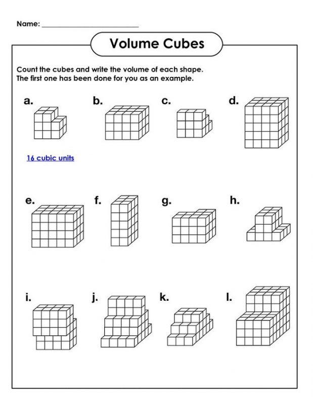 Math Worksheets for Kids Volume