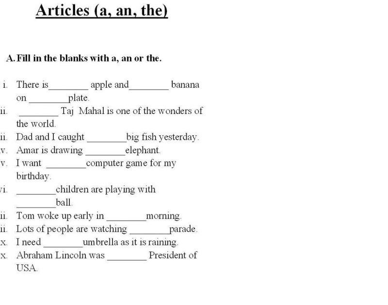Worksheets for Grade 1 Grammar